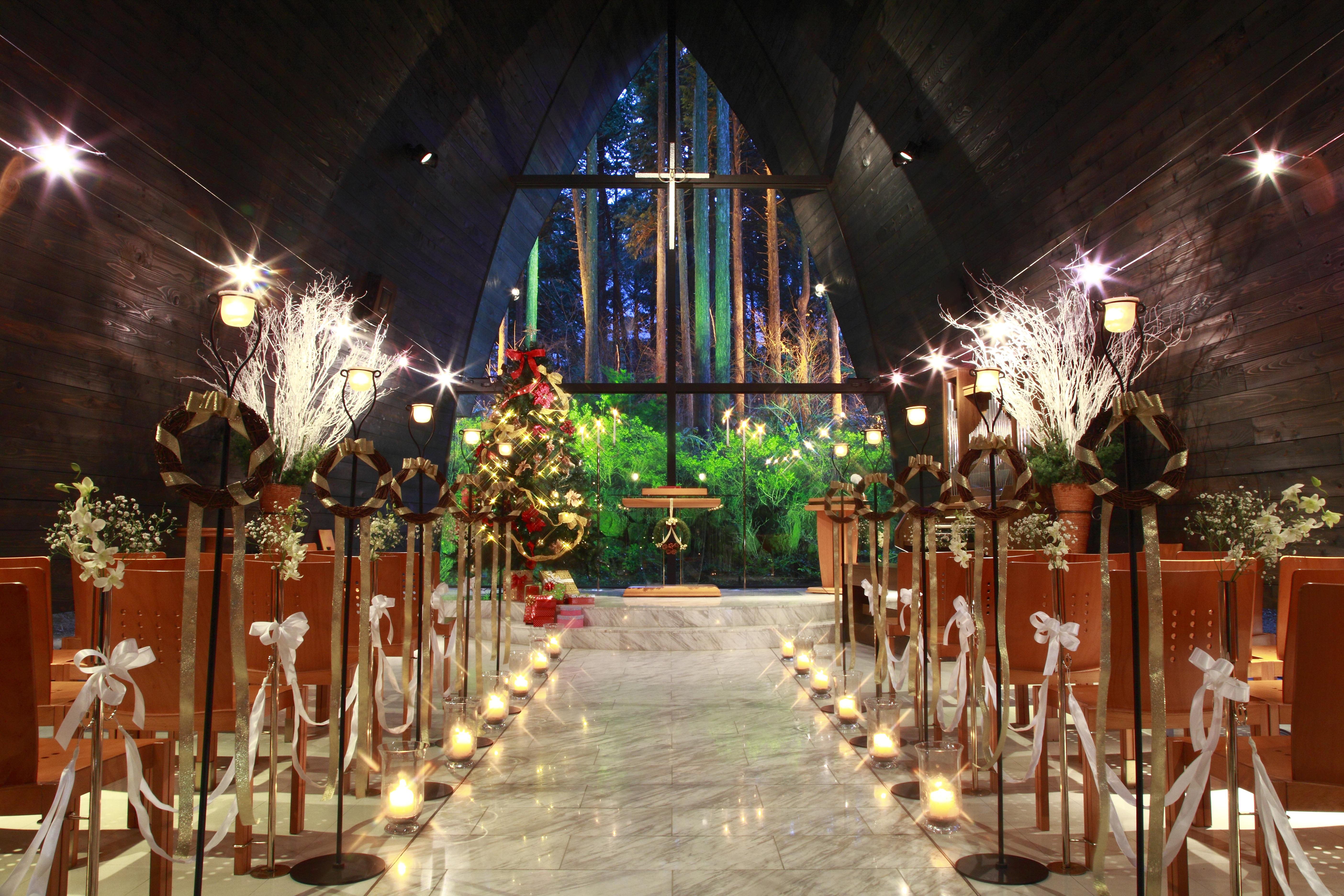 【早期お申込み特典】今なら12月限定のクリスマス婚や神秘的な冬挙式以降がお得に叶う!